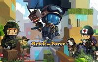 Brick Force Soldaten stehen in der Klötzchenwelt mit ihren Waffen rum.