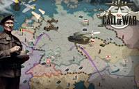 Call of War Karte in Mitteleuropa mit Browsergame Logo
