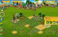 Ansicht vom Bauernhof in der Farmerama Simulation