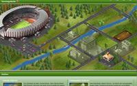Das Stadion und die Infrastruktur beim Fussballcup Browsergame