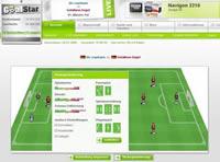 Die Aufstellung im Goalstar Browsergame