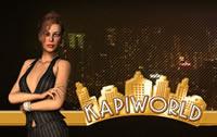 Kapiworld Sekretärin vor der Stadt Skyline