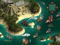 Die Seekarte von Seafight auf der auch die Kämpfe stattfinden