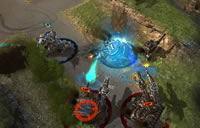 Ein Gefecht im Actin Kriegsspiel Steel Legions