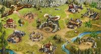 Die Karte vom Strategiespiel Stone Age Kings