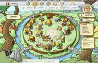 Das Dorf im Browsergame Travian