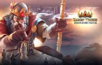 Der König von Zarenkriege hält as Zepter in der Hand.