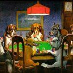 Hunde beim Poker spielen