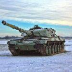 panzer-in-der-freien-natPanzer in der freien Natur im Winterur